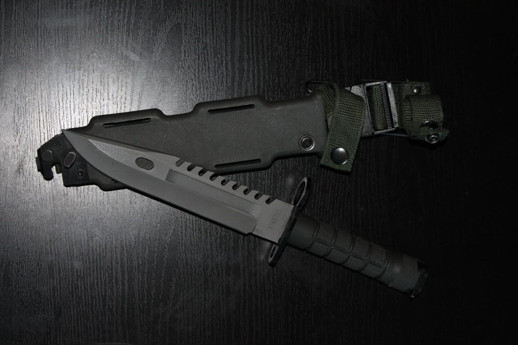Bayonet knife M9 from X th drawing  M9 bayonet to M16